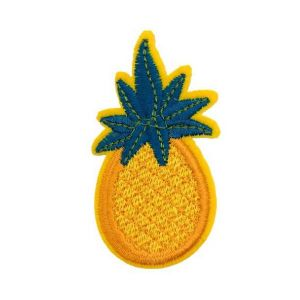 Bright Color Rich Flavor Pineapple Fruit Embroidery Patch