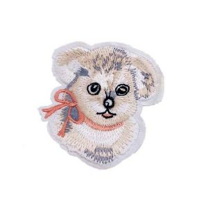 Enamoring Cute Fluffy Puppy Dog Embroidery Patch