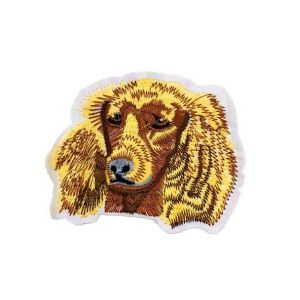 Brown English Cocker Spaniels Dog Embroidery Patch