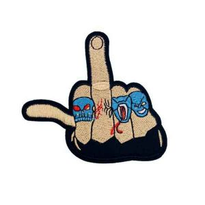 Middle Finger Back Patch