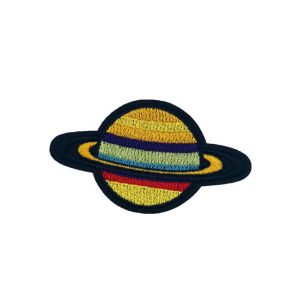 Elegant Colored Planet Saturn Embroidery Patch
