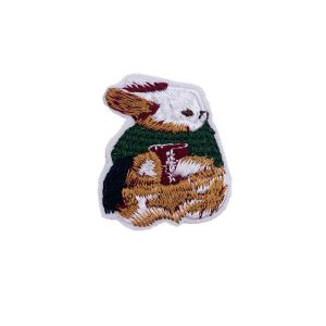 Captivating Green and Brown Bunny Rabbit Embroidery Patch