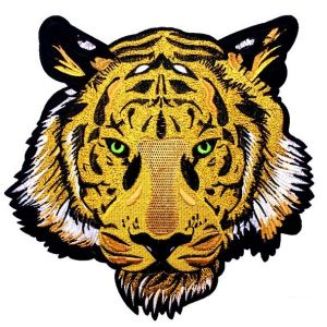 Looming Eyes Golden Tiger Embroidery Patch