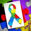 Autism Awareness Emblem Vector Art