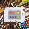Colorful Painter Palette Vector Art