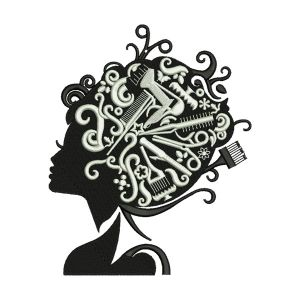Hairdresser Embroidery Designs