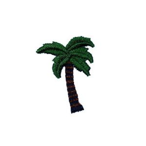 Leafy and Sturdy Tropical Tree Embroidery Patch