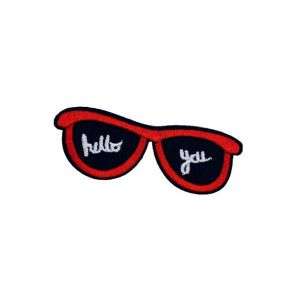 Alluring Red Colored Sunglasses Embroidery Patch