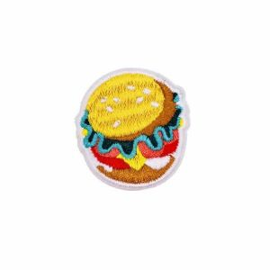Palatable Fast Food Cheese Hamburger Embroidery Patch
