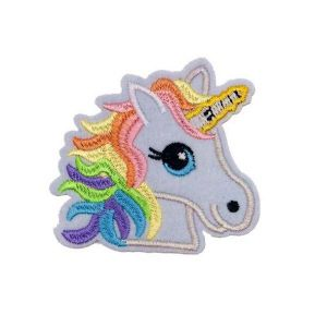 Beguiling Colorful Unicorn Horn Mane Embroidery Patch
