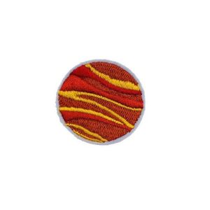 Captivating Fiery Venus Planet Embroidery Patch