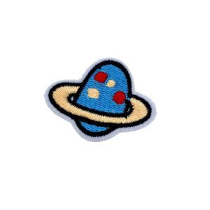 Egg Shaped Saturn Planet Solar System Embroidery Patch