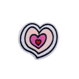 Enamoring Hearts in a Heart Embroidery Patch