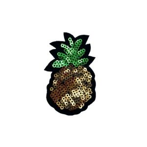 Delectable Pineapple Fruit Beads Embroidery Patch