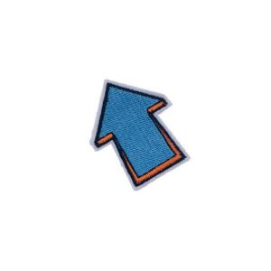 Blue Arrow Pointing North West Embroidery Patch