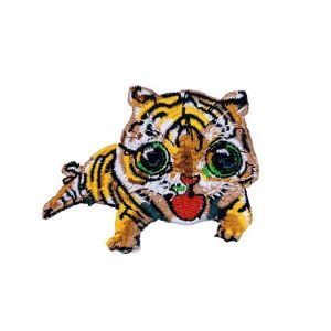 Charming Huge Eyes Baby Tiger Embroidery Patch