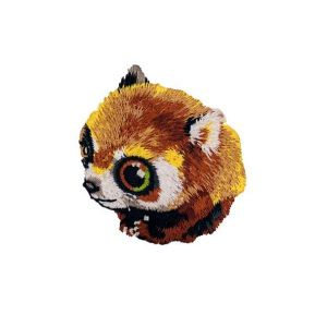 Fascinating Brown Mouse Lemur Animal Embroidery Patch