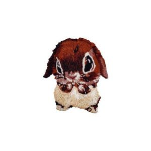 Intriguing Huge Eyes Bunny Rabbit Animal Embroidery Patch