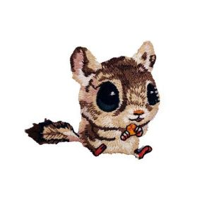 Appealing Squirrel Huge Eyes Rodent Animal Embroidery Patch