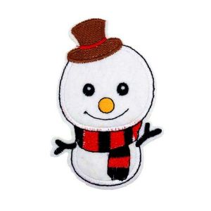 Cute Christmas Snowman Embroidery Patch