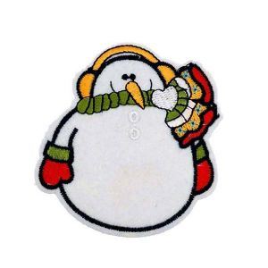 Chirpy Christmas Snowman Ear Muff Embroidery Patch