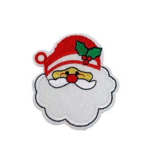 Christmas Santa Claus Mistletoe Hat Embroidery Patch