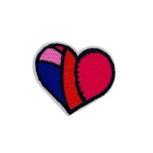 Exotic Multi Colored Heart Embroidery Patch