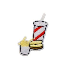 Alluring Fast Food Soda Fries Burger Embroidery Patch