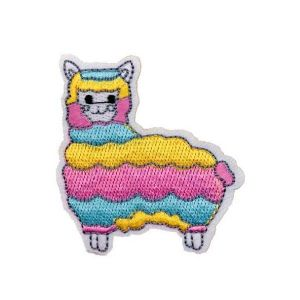 Enchanting Pastel Color Sheep Fur Embroidery Patch