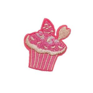 Exquisite Pink Cupcake Sweet Embroidery Patch
