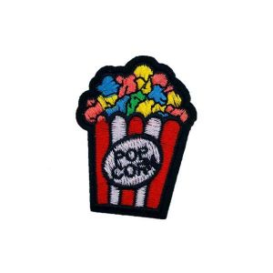 Multi Colored Popcorn Fast Food Embroidery Patch
