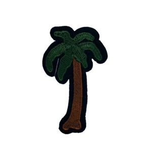 Intriguing Tropical Palm Tree Embroidery Patch