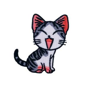 Cute Laughing Brazilian Shorthair Cat Embroidery Patch
