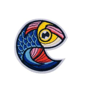 Colorful Fish Swimming Upside Down Embroidery Patch