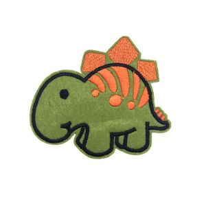 Cute Little Stegosaurus Dinosaur Cartoon Embroidery Patch