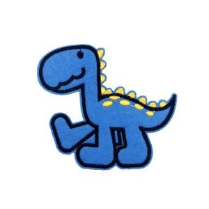 Blue Baby Saltasaurus Dinosaur Cartoon Embroidery Patch