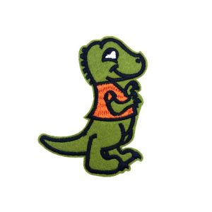 Cute Green Baby Dinosaur Cartoon Embroidery Patch