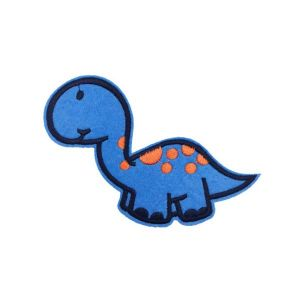 Charming Blue Little Baby Dinosaur Cartoon Embroidery Patch