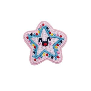 Kawaii Pastel Color Smiling Star Embroidery Patch