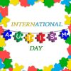 Jigsaw Puzzles Forming AUTISM Vector Art