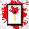Red Ink Spread Paint Black Brush Vector Art