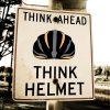 Powerfully Built Bicycle Helmet Vector Art