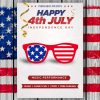 Uncle Sam Us glasses Vector | 4th of July Glasses Vector | US Glasses Vector File | SVG American Glasses