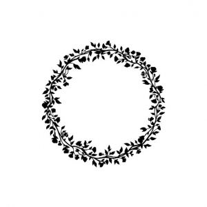 Floral Wreath Silhouette