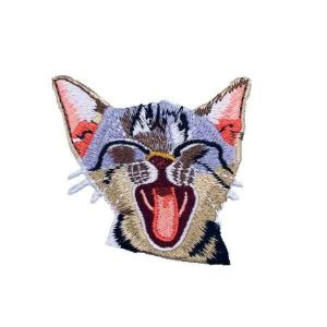 Yawning Egyptian Mau Cat Patch