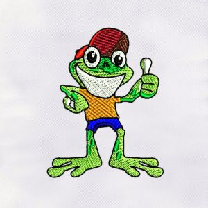 Frog Embroidery Designs