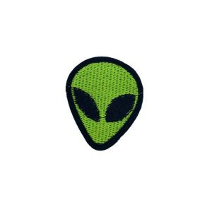 Alien Head Embroidered Patch