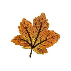 Brown Maple Leaf Patch