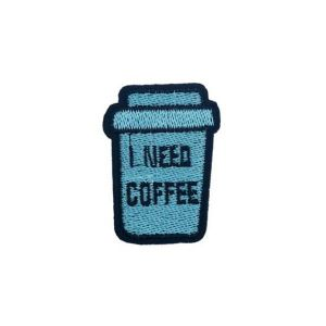 Embroidered Coffee Cup Patch