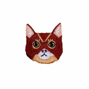 Brown Cat Face Patch